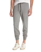 Cashmere Jogger Pants, Gray