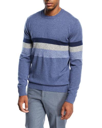 Multi-Stripe Cashmere-Blend Sweater