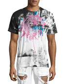 Garden Paint-Splatter T-Shirt, White