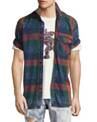 Lawn Chair Plaid Denim Shirt, Multicolor