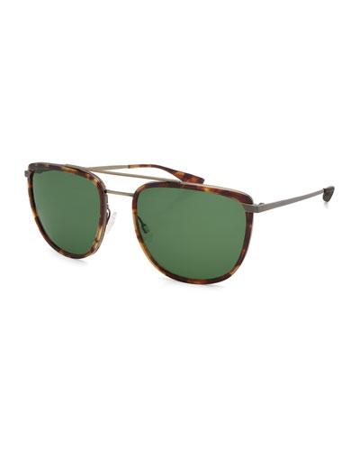 Lafayette Metal & Acetate Navigator Sunglasses, Chestnut/Antique ...