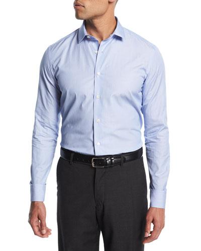 Micro-Stripe Cotton Dress Shirt