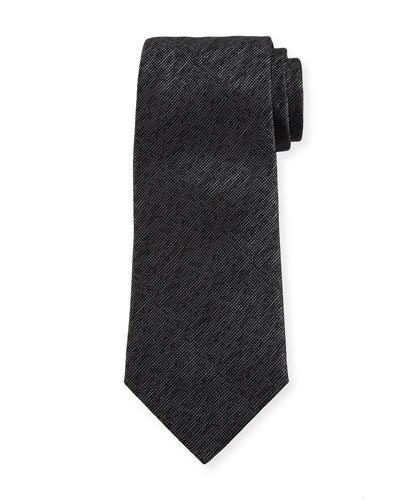 Silk Mélange Tie, Charcoal