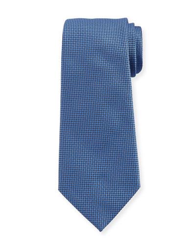 Herringbone Silk Tie, Light Blue
