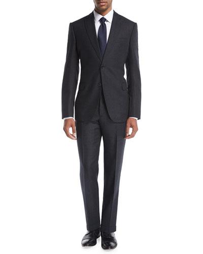 Donegal Melange Wool-Silk Two-Piece Suit