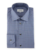 Check Dress Shirt, Blue/Gray