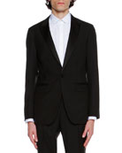 Shawl-Collar Tuxedo Jacket, Black