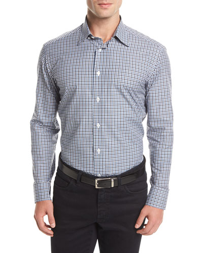 Long-Sleeve Check Sport Shirt