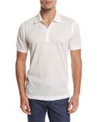 Cotton Pique Polo Shirt, White