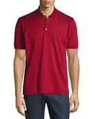 Cotton Pique Polo Shirt, Red