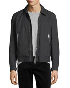 Maddison Cropped Bomber Jacket with Check Lining