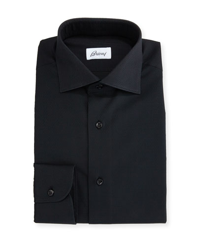 Textured Dress Shirt, Black