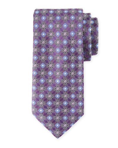 Circle/Box Silk Tie