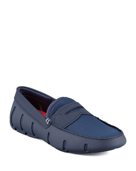 Swims Mesh and Rubber Penny Loafer, Navy