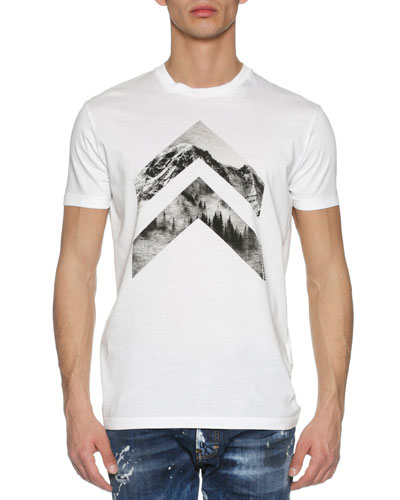 Mountain Peaks T-Shirt, White
