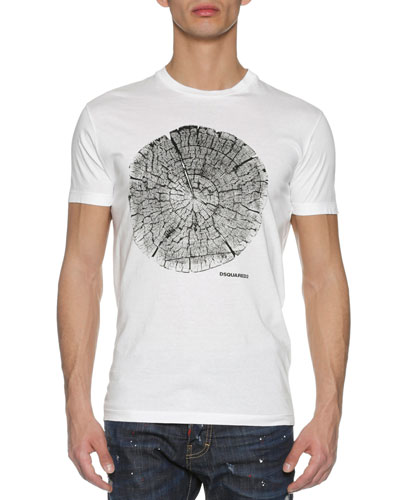 Wood Log T-Shirt, White
