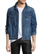 Men's Gorn Denim Trucker Jacket, Medium Blue