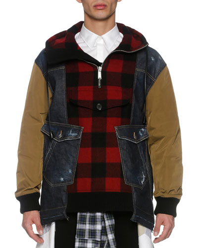 Denim & Flannel Anorak, Multicolor
