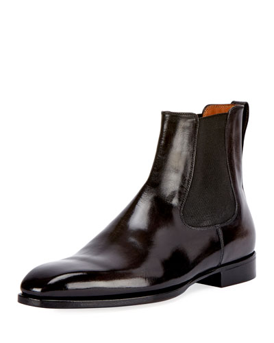 Leather Chelsea Boot, Gray
