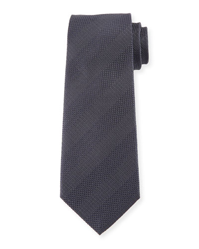 Tonal Striped Silk Tie, Gray