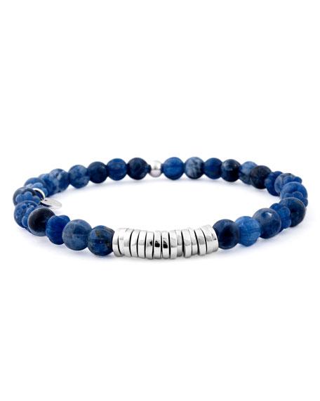 Tateossian Men's Sodalite Bead Bracelet