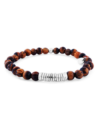 Men's Tiger Eye Bead Bracelet