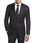 Flannel Stripe Wool Two-Piece Suit