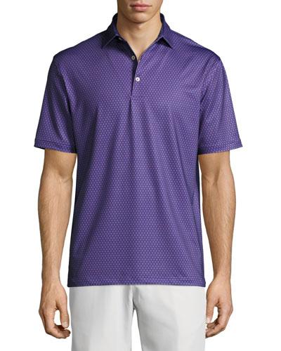 Crown Sport Mata Sunburst Polo Shirt, Blackberry