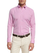 Collection Perfect Pinpoint Sport Shirt, Dark Pink