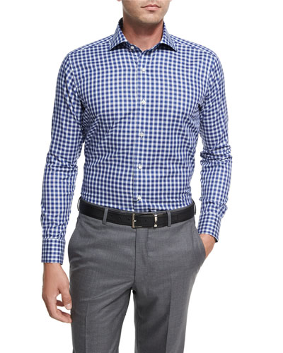 Collection Tangier Check Sport Shirt, Blue