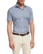 Collection Coastal Collage Short-Sleeve Sport Shirt, Royal
