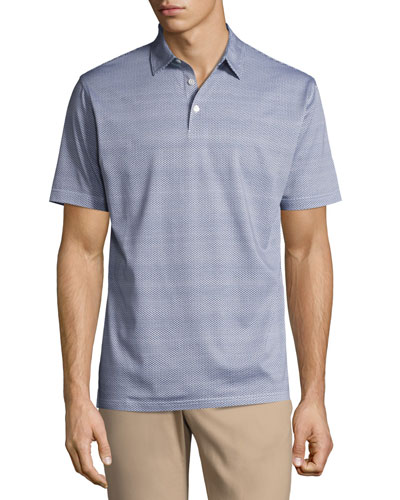 Collection Storm at Sea Cotton Polo Shirt, Blue