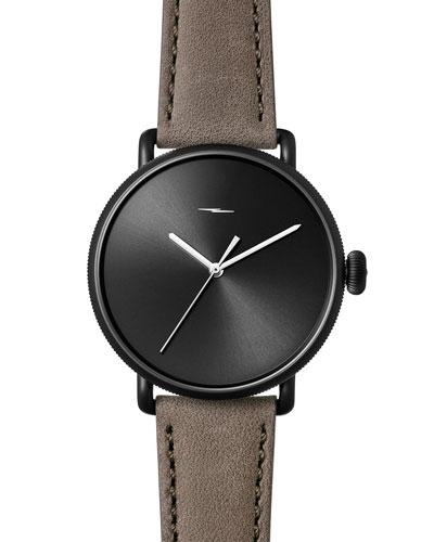 Men's 42mm Canfield Bolt Watch, Black/Gray