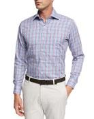 Grand Voyage Tattersall Sport Shirt, Blue