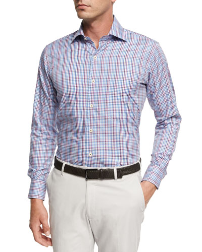 Grand Voyage Tattersall Sport Shirt, Blue