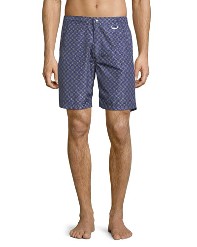Capri Coastal Floral Swim Trunks