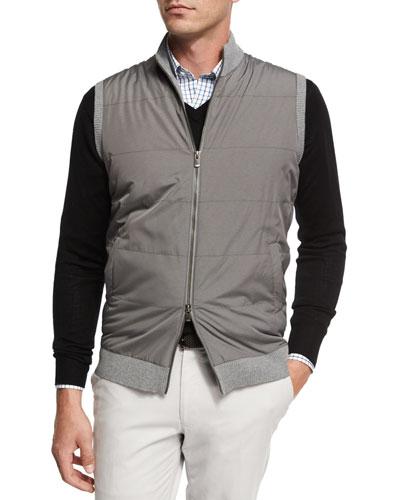 Lenoir Melange Full-Zip Vest, Smoke
