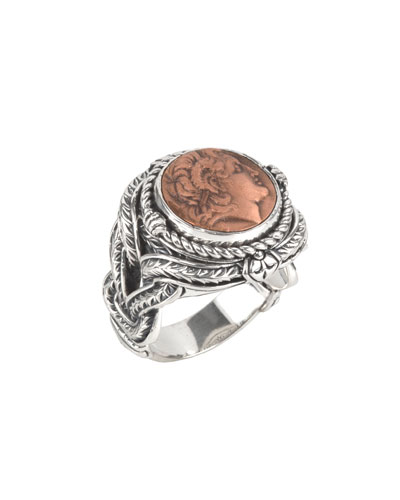 Men's Aeolus Sterling Silver & Copper Alexander the Great Ring