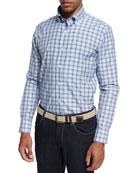 Collection Santorini Check Sport Shirt, Light Blue
