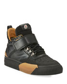 Moncler Cyprien Leather Hiking Boot, Black
