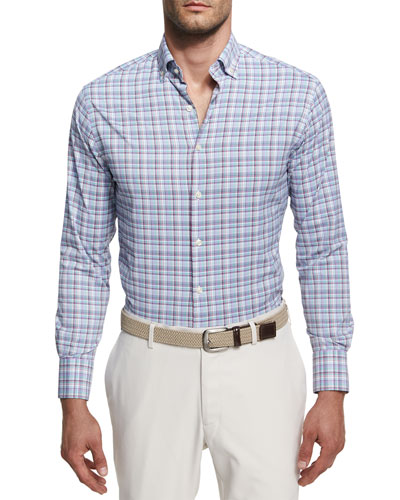 Trix Performance Plaid Sport Shirt