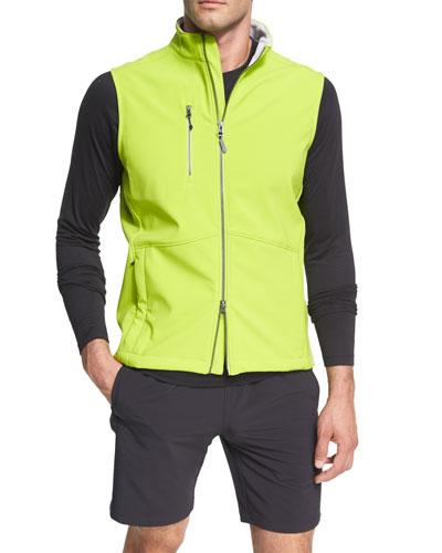 Crown Sport Juneau Soft-Shell Vest, Lime