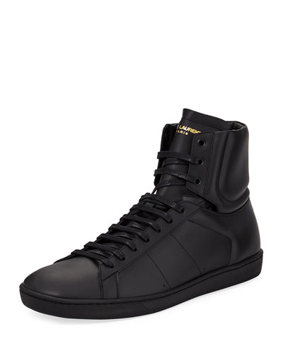 SL/10H Men's Signature Court Classic Leather High-Top Sneaker