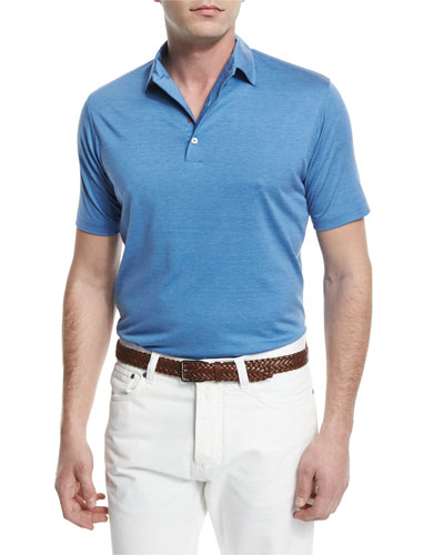 Pelleovo Jersey Polo Shirt, Blue