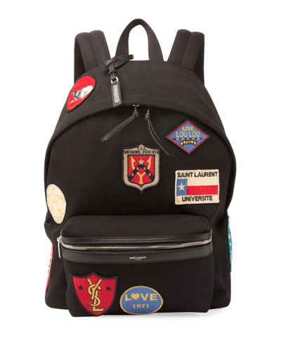 City Canvas Patch Backpack, Black