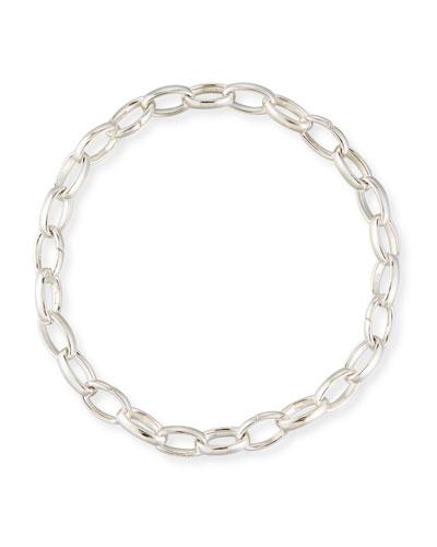 Men's Sterling Silver Charm Bracelet