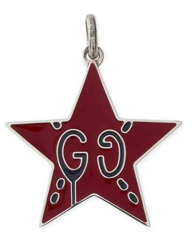 GucciGhost Sterling Silver & Enamel Star Charm