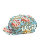 Loved Floral Jacquard Baseball Cap