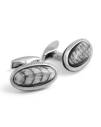 Tateossian Limited Edition Signature Diamond Bowl Silver Cuff Links 2KdD4G2iy