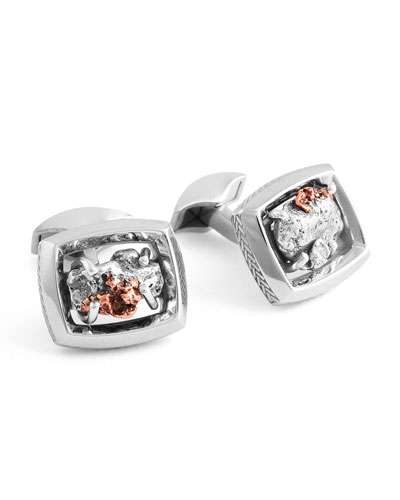 Limited Edition Signature Copper Nugget Cuff Links